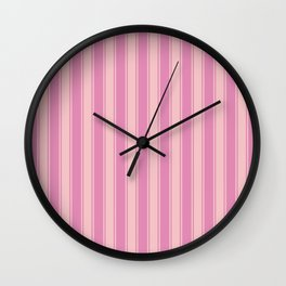 Rosé nautical geometric vertical lines pattern for home decoration Wall Clock