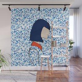 A girl has no face Wall Mural