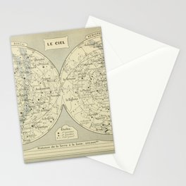 French Constellation Map Stationery Cards