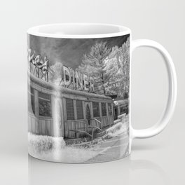 Rosie's Diner Photograph in Infrared Black & White by Rockford, Michigan Coffee Mug