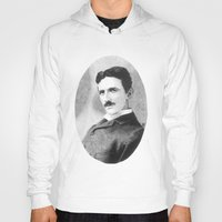 tesla Hoodies featuring Nikola Tesla by Daniel Point
