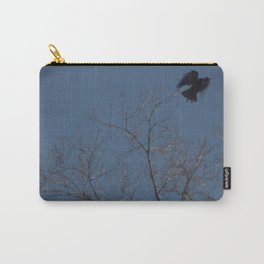 Crow Taking Flight Carry-All Pouch