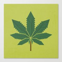 weed Canvas Prints featuring weed by rubenmontero