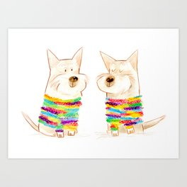 westie besties Art Print
