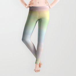 pastel rainbow gradient loved by unicorns Leggings