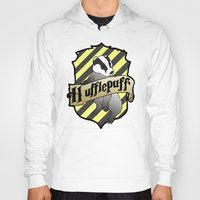 hufflepuff Hoodies featuring Hufflepuff Crest by AriesNamarie