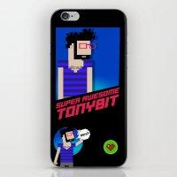 8 bit iPhone & iPod Skins featuring 8-bit by EarlyHuman