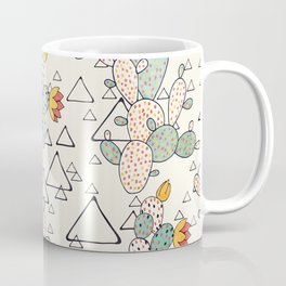 Prickly Pear Cacti and Triangles Coffee Mug