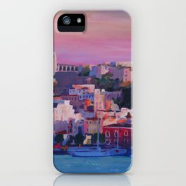 Ibiza Eivissa Old Town and Harbour Pearl of the Mediterranean iPhone Case