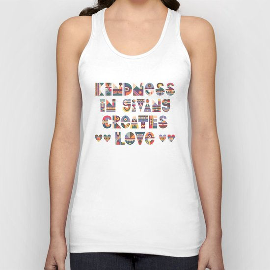 Kindness Unisex Tank Top
