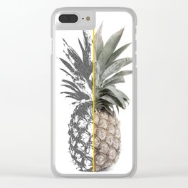 Double Pineapple Clear iPhone Case