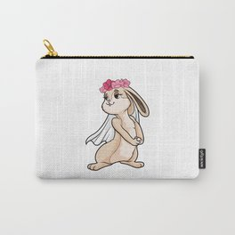 Beautiful bunny as a bride with a veil - bachelorette party Carry-All Pouch