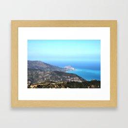 Cefalu´ vista da Pollina (Sicily) Framed Art Print