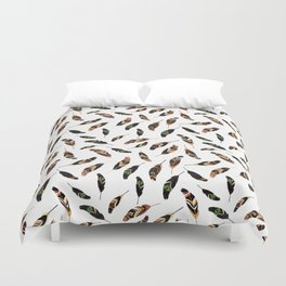 Feathers seamless pattern, vector illustration Duvet Cover