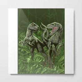 Twin Dinosaur Metal Print