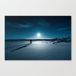 Guided by Moonlight Canvas Print