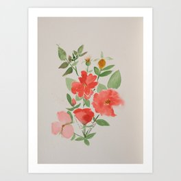 Fall Knockout Roses Art Print