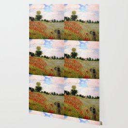 POPPIES - CLAUDE MONET Wallpaper