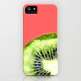 Kiwi on Coral iPhone Case