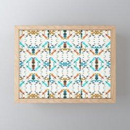 Small Irregular Shapes Pattern Framed Mini Art Print