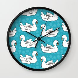 Swan Float Wall Clock