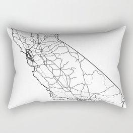 California White Map Rectangular Pillow