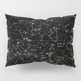 Constellations Map, Stars, Astronomy Cosmos Galaxy Pillow Sham