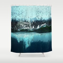 Water Explosions Shower Curtain