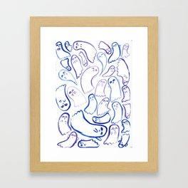 Those darn, playful spooks.. Framed Art Print