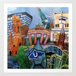 The city of Berlin Art Print
