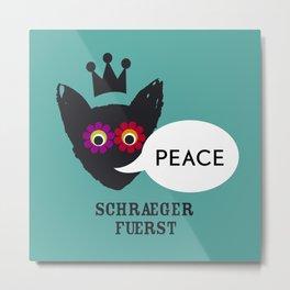 schraegerfuerst, PEACE Metal Print