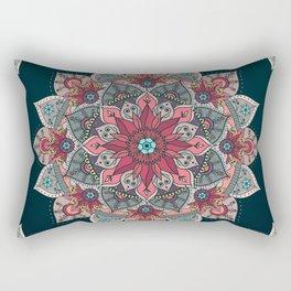 Winter holidays doodles mandala design Rectangular Pillow