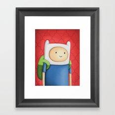Finn Adventure Time Framed Art Print