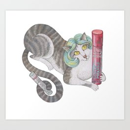 Wella cat Art Print
