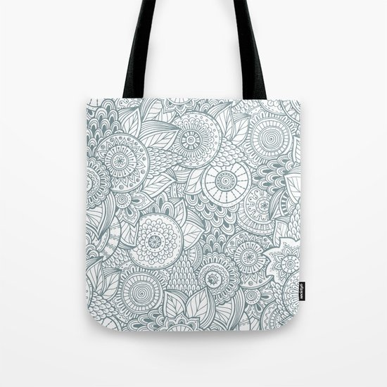 Abstract Floral Pattern Tote Bag