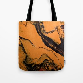 Dirty Acrylic Pour Painting 07, Fluid Art Reproduction Abstract Artwork Tote Bag