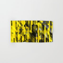 abstract composition in yellow and grays Hand & Bath Towel