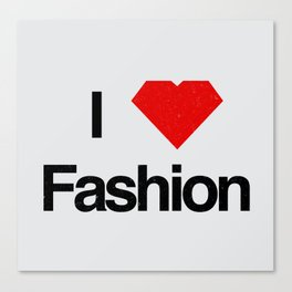 I heart Fashion Canvas Print