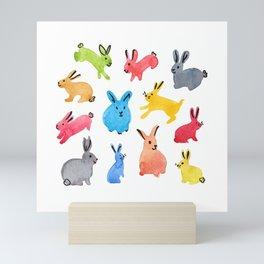Playful Bunnies Mini Art Print