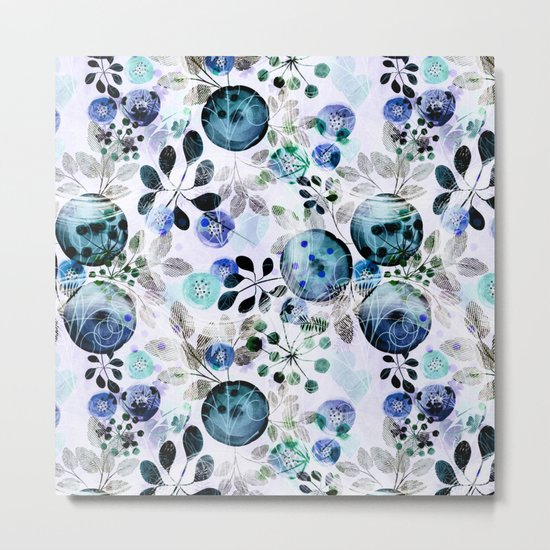 Abstract floral pattern.2 Metal Print
