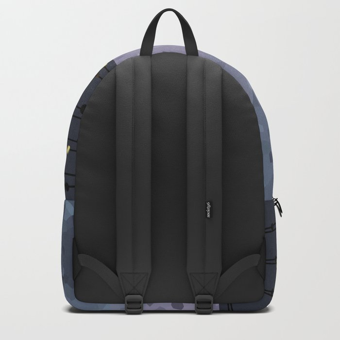 Pink-grey ,blue combo pattern . Backpack