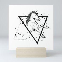 Horse Handmade Drawing, Made in pencil and ink, Tattoo Sketch, Tattoo Flash, Blackwork Mini Art Print