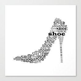 Typographic Shoe Canvas Print