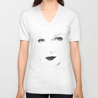 no face V-neck T-shirts featuring Face by Falko Follert Art-FF77