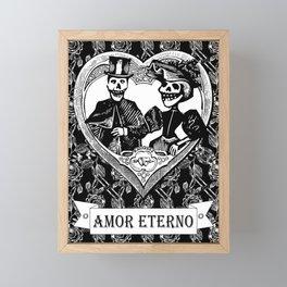 Amor Eterno | Eternal Love | Black and White Framed Mini Art Print