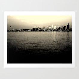 Alki Beach - Seattle, WA Art Print