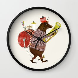 one bear band Wall Clock
