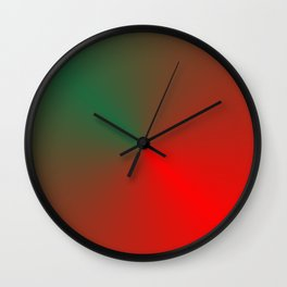 SURPRISE - RED GREEN HEART Wall Clock