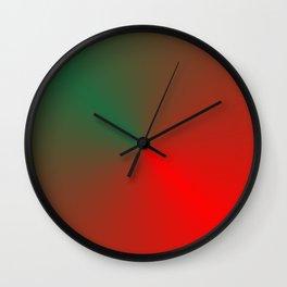 SURPRISE - RED GREEN HEART Wall Clock