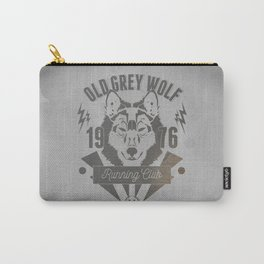 Old Grey Wolf Running Club Carry-All Pouch